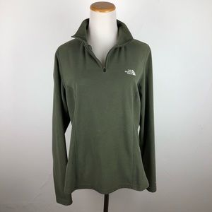 The North Face Green Sweater Jacket Sz Large
